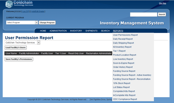inventory management systems - ims - reporting